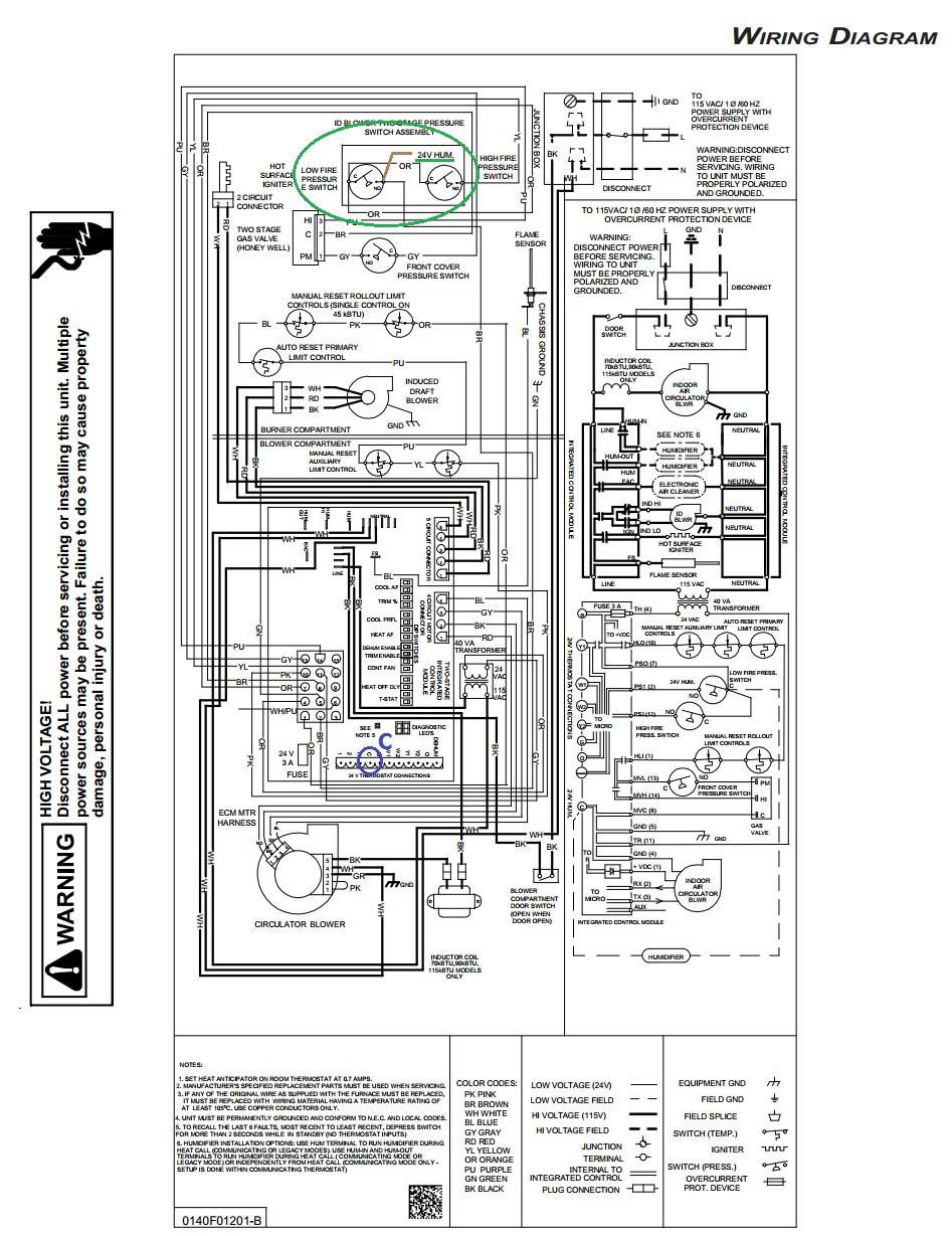 Wiring Diagram Goodman Electric Furnace How To Stunning Diagrams
