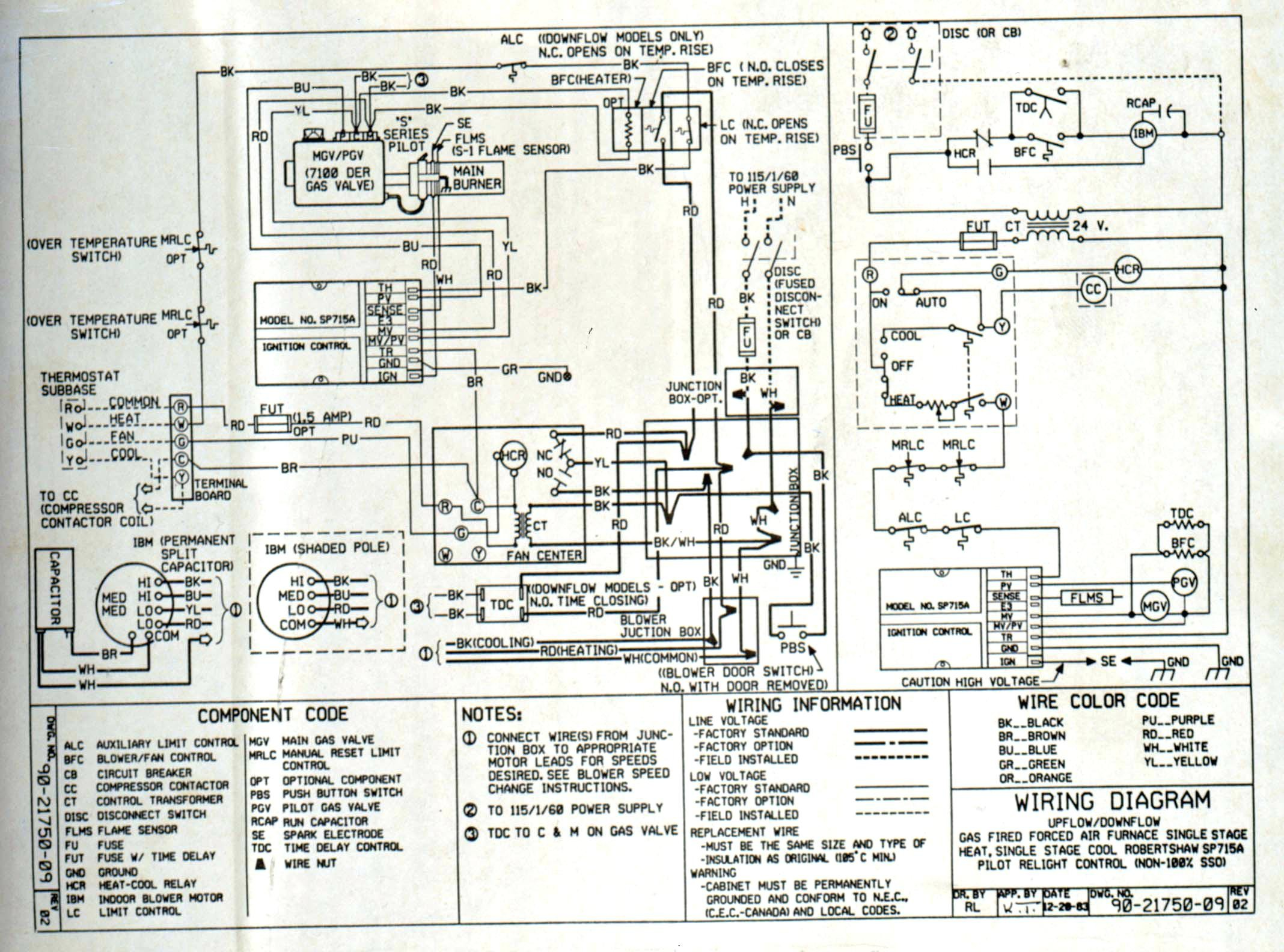 Carrier Package Unit Wiring Diagram Wiring Data - Payne package unit wiring diagram