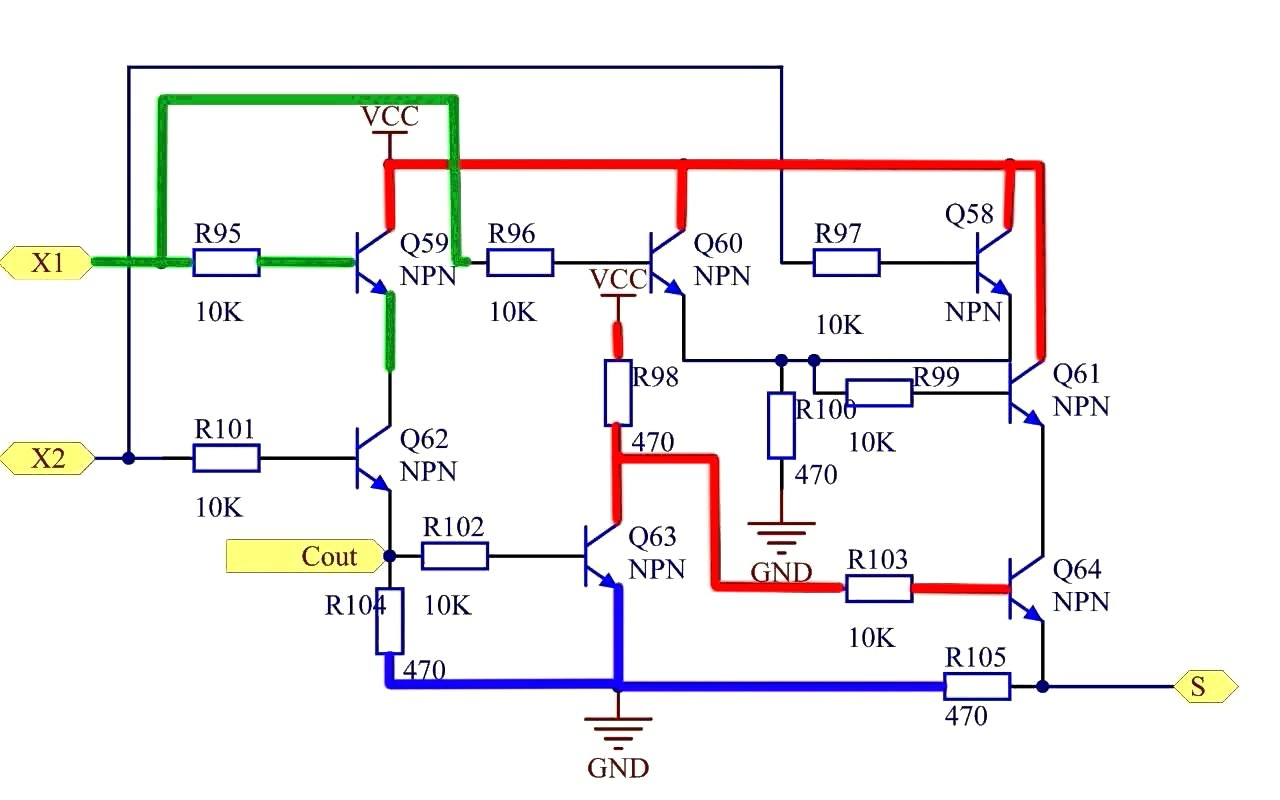 Half Adder Breadboard Wiring Diagram Image Circuit Using Stunning Full Shematic Nand Gate Size