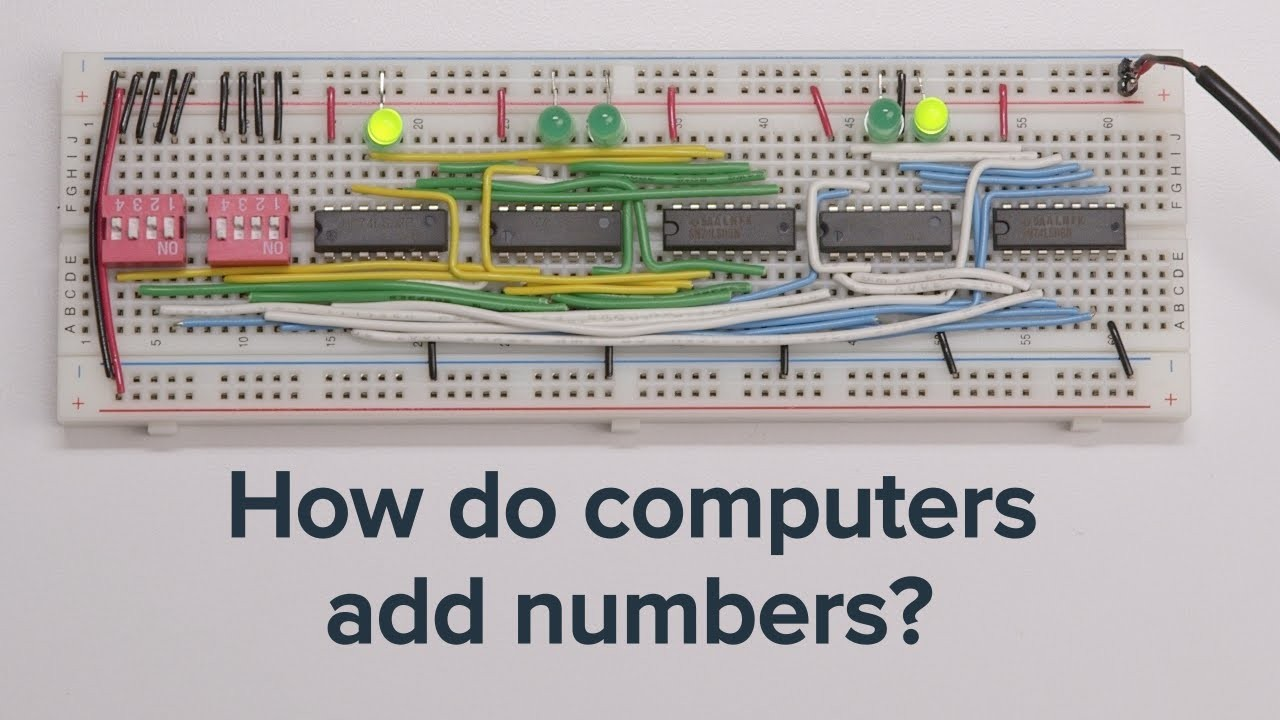 Half Adder Breadboard Wiring Diagram Image Bit Learn How Puters Add Numbers And Build A 4 Circuit