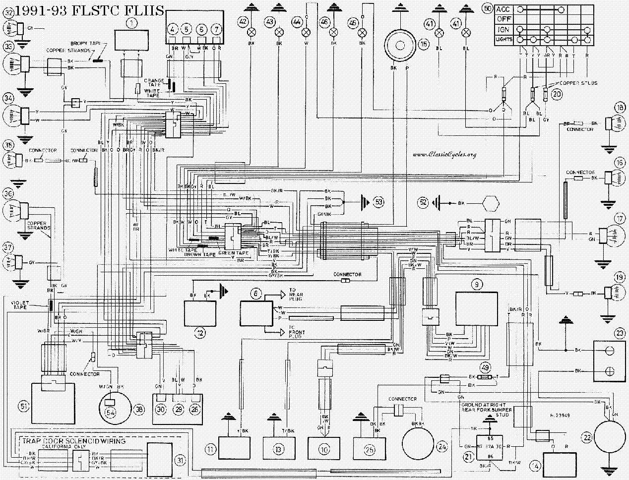 Harley Davidson 1991 93 Flstc Flhs Wiring Diagram Service Manual Simple Download Resize U003d665 2C508