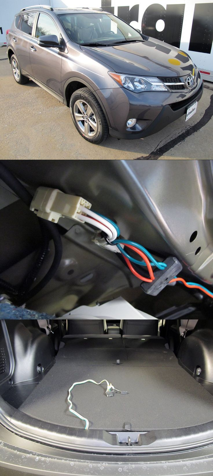 T e Vehicle Wiring Harness with 4 Pole Flat Trailer Connector