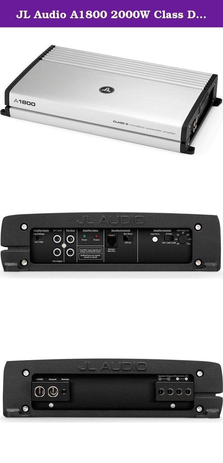 Hifonics Brutus Amp Wiring Diagram Best Of Image Jl Audio A1800 2000w Class D Monoblock A Series Amplifier