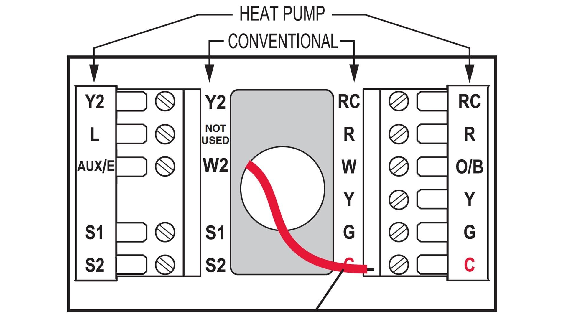Goodman Heat Pump Wiring Diagram Thermostat New Honeywell Instructions Wire