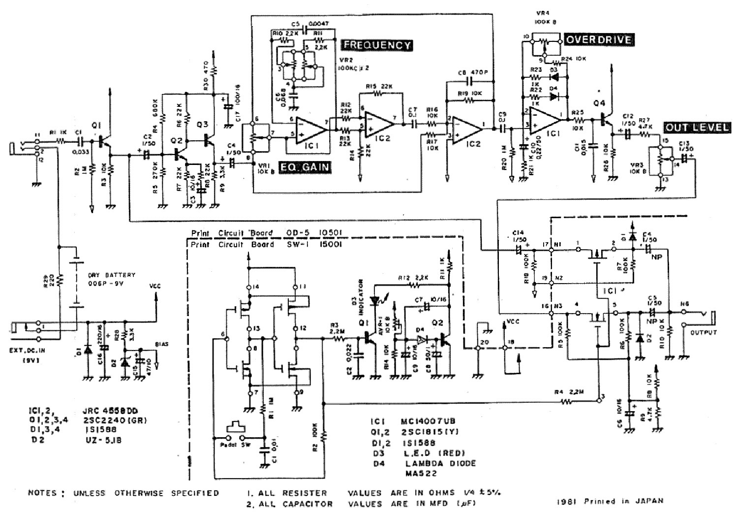 Wiring diagram for guitar effects pedals wiring diagram wiring pearl overdrive od05 guitar effects schematics service manual guitar effects schematics diagrams guitar effects schematics pdfsc1stwiring diagram cheapraybanclubmaster Image collections