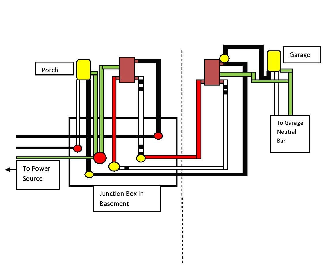 Electrical How Can I Wire This Three Way Circuit Between Two Within Outlet Switch Wiring Diagram