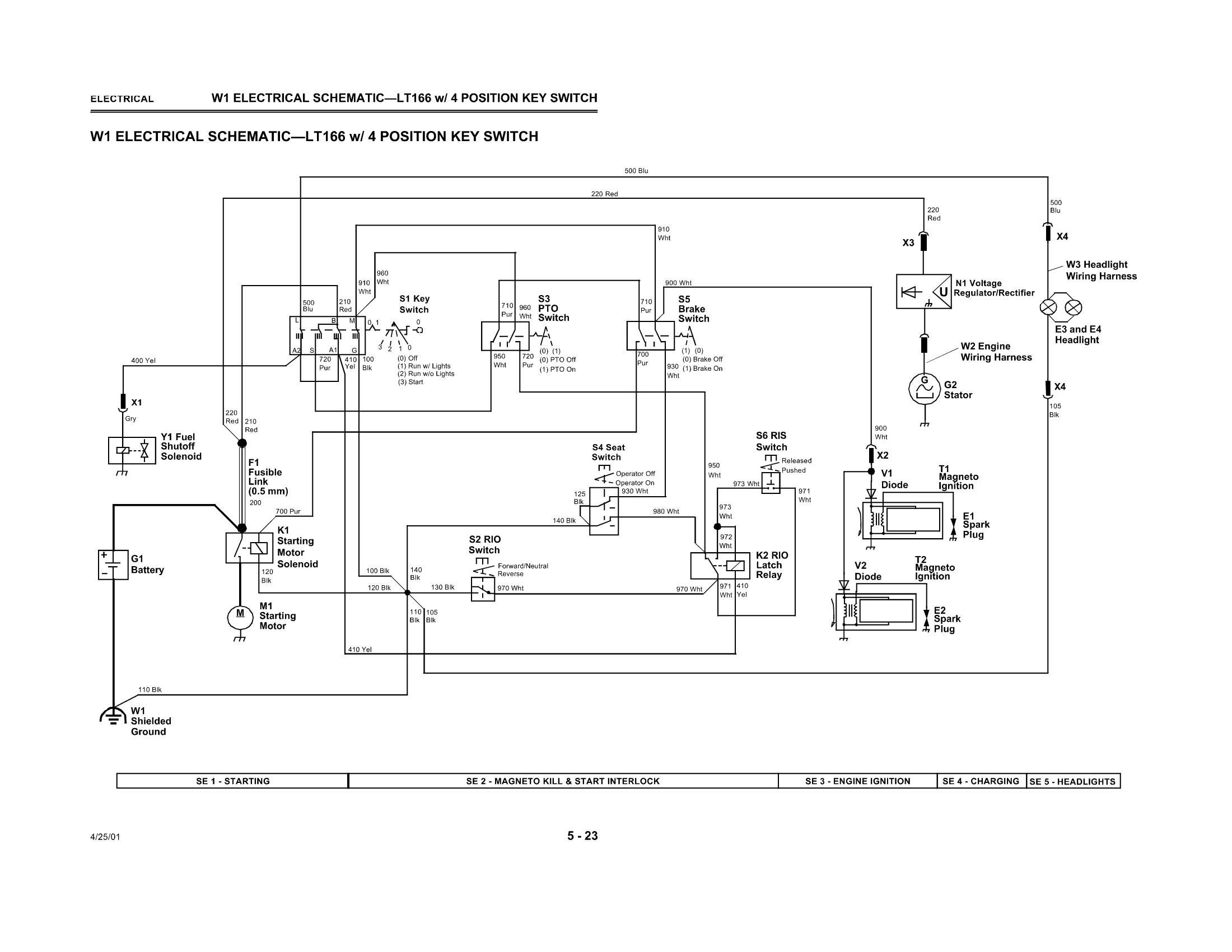 Wiring Schematic John Deere Lt155 Wire Center \u2022 John Deere Mower F525 Schematic  John Deere Lt133 Electrical Schematic
