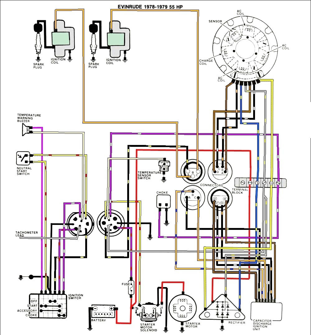 Mastertech Marine Evinrude Johnson Outboard Wiring Diagrams Fair Diagram Outboards With