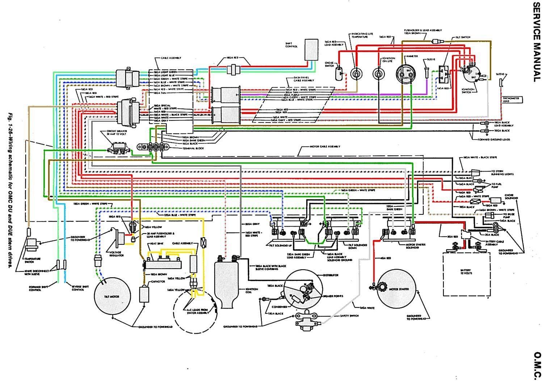 1966 Evinrude 80HP V4 Wiring Diagram