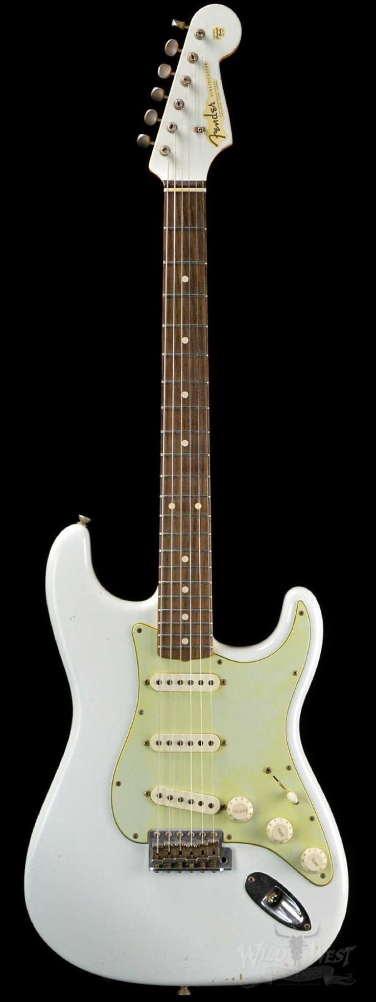 Fender 1960 Stratocaster Relic Olympic White with Matching Headstock Preowned Wild West Guitars
