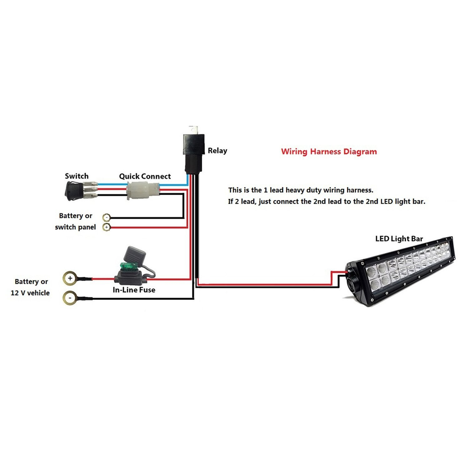 Led Light Bar Wiring Diagram Without Relay Harness For Install Rzr To