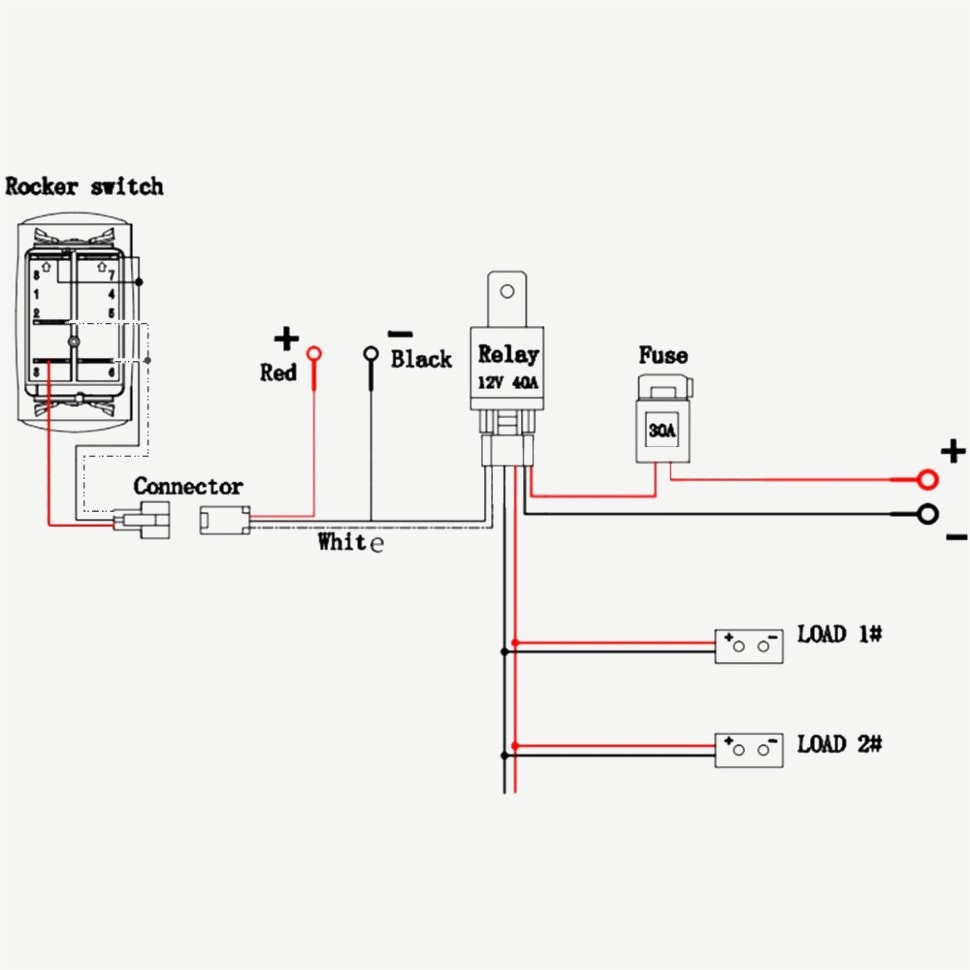 Unique Wiring Diagram For Light Bar 40a 12v 3lead Wiring Harness Kit Wireless Remote Control