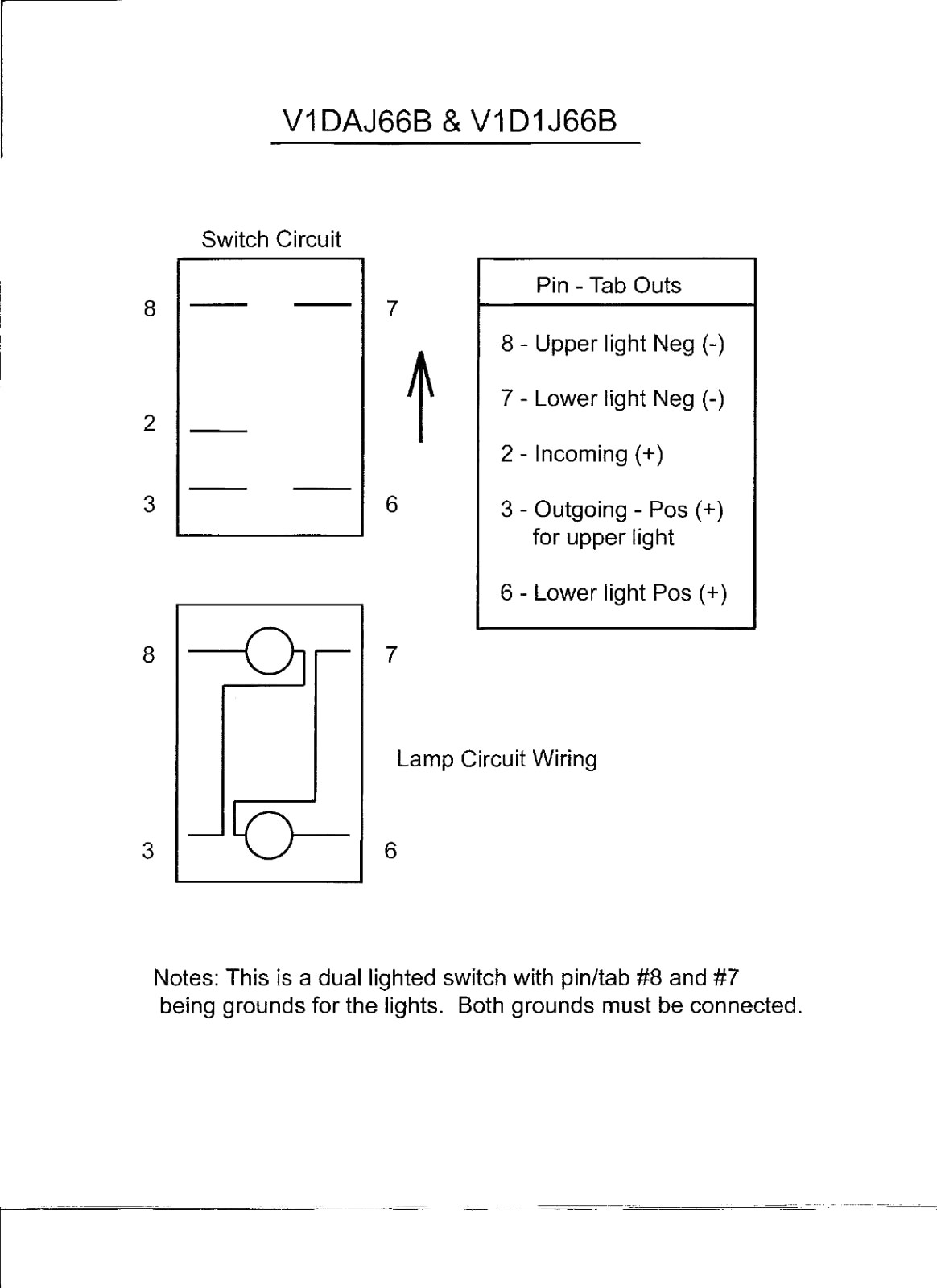 Lighted rocker switch wiring diagram v new