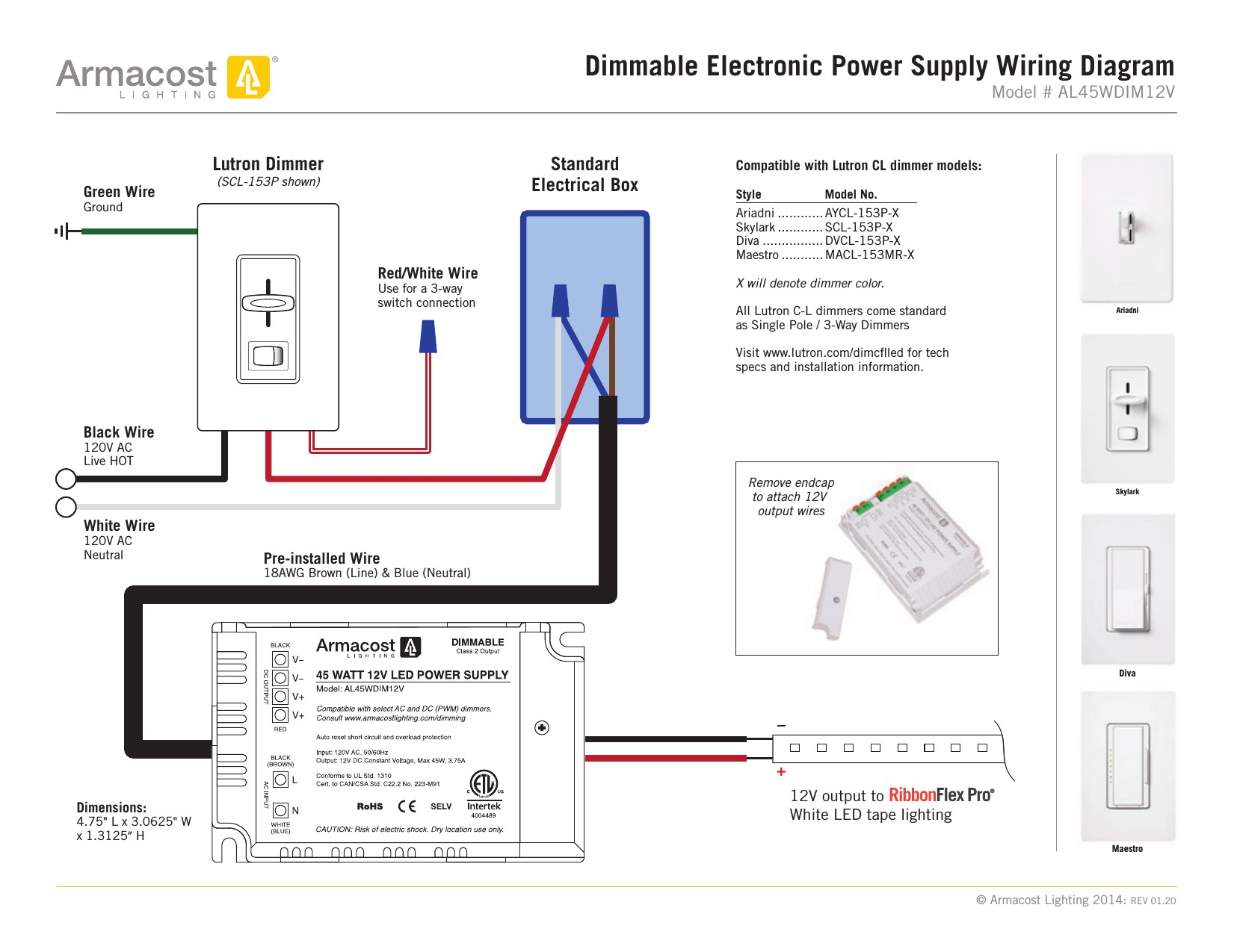 Lutron Cl Dimmer Wiring Diagram Unique