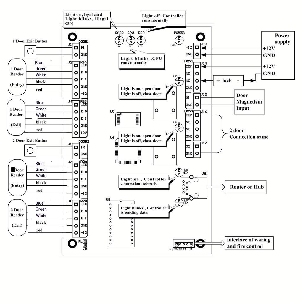 magnetic door lock wiring diagram elegant