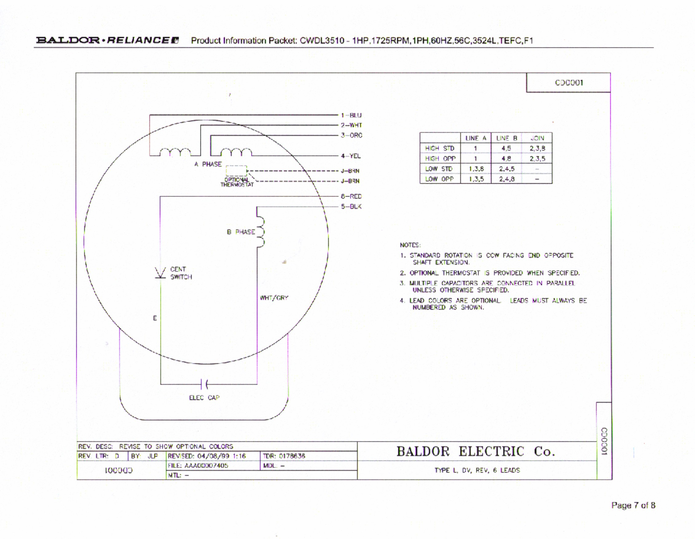 Baldor 3 Hp Motor Wiring Diagram -