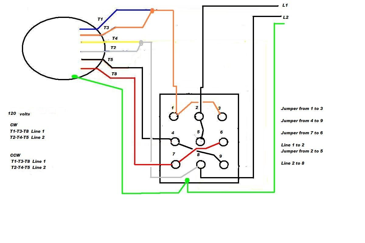 4 Wire Ac Motor Wiring Diagram Marathon Motors For Printable At Capacitor