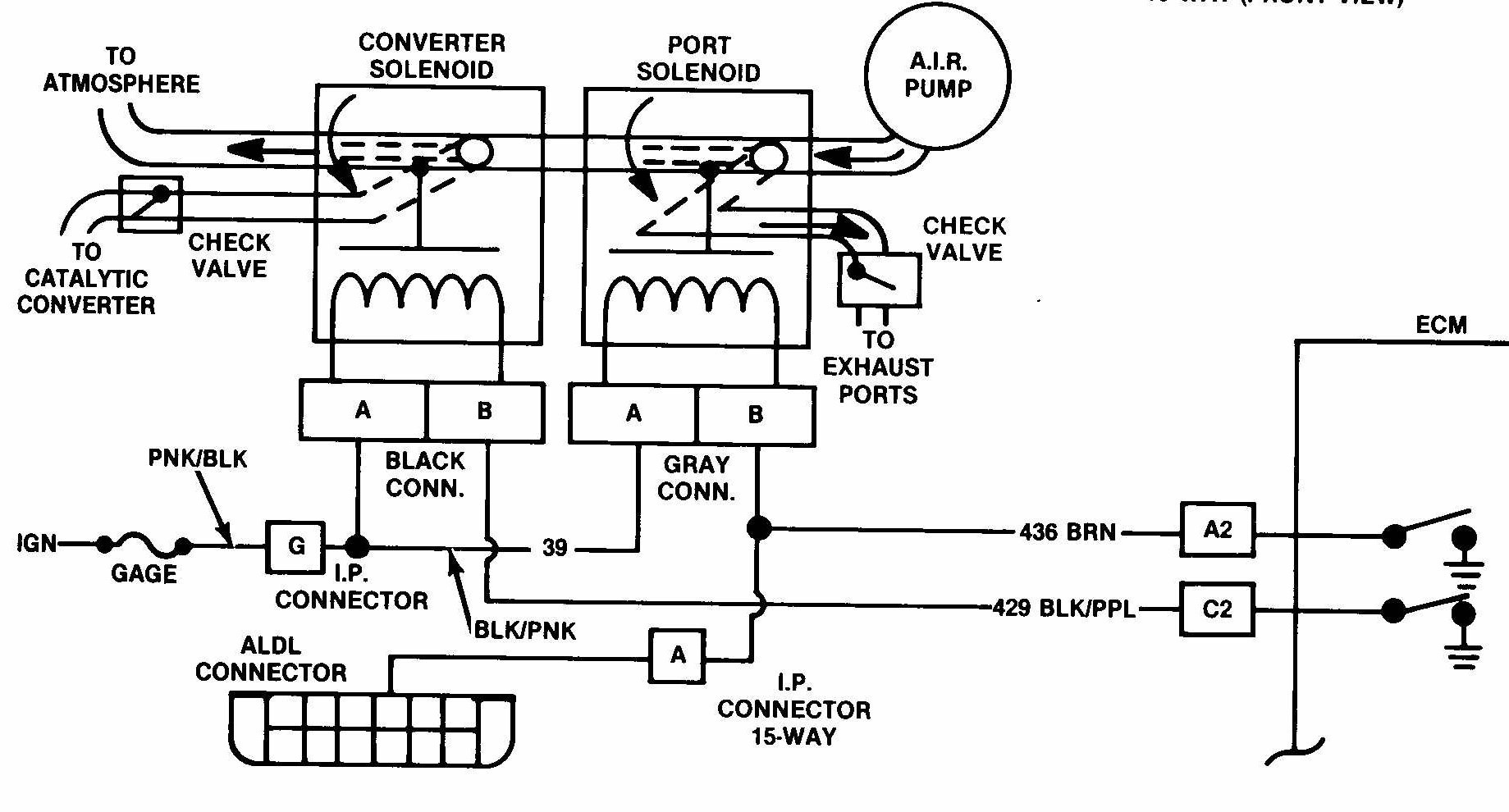 AIR smog pump electrical diagram JPG
