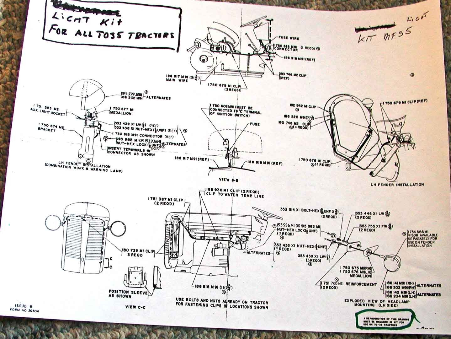 massey ferguson 35 wiring diagram electrical and lighting diagrams rh diagramchartwiki 1963 massey ferguson 35