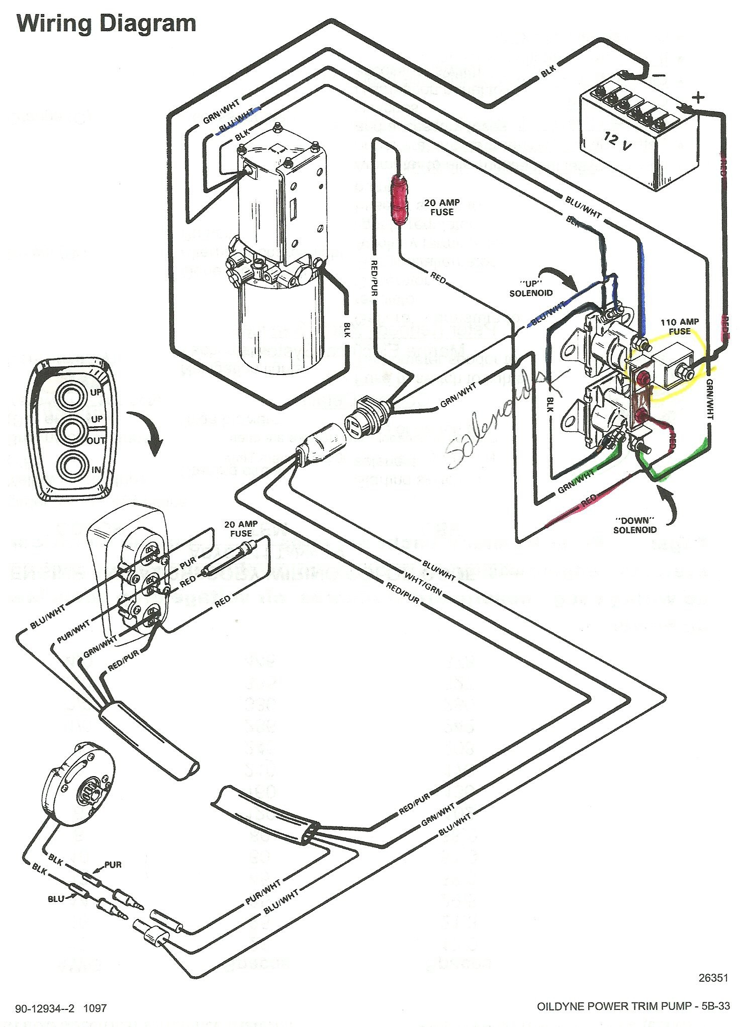 mercruiser trim solenoid wiring diagram unique