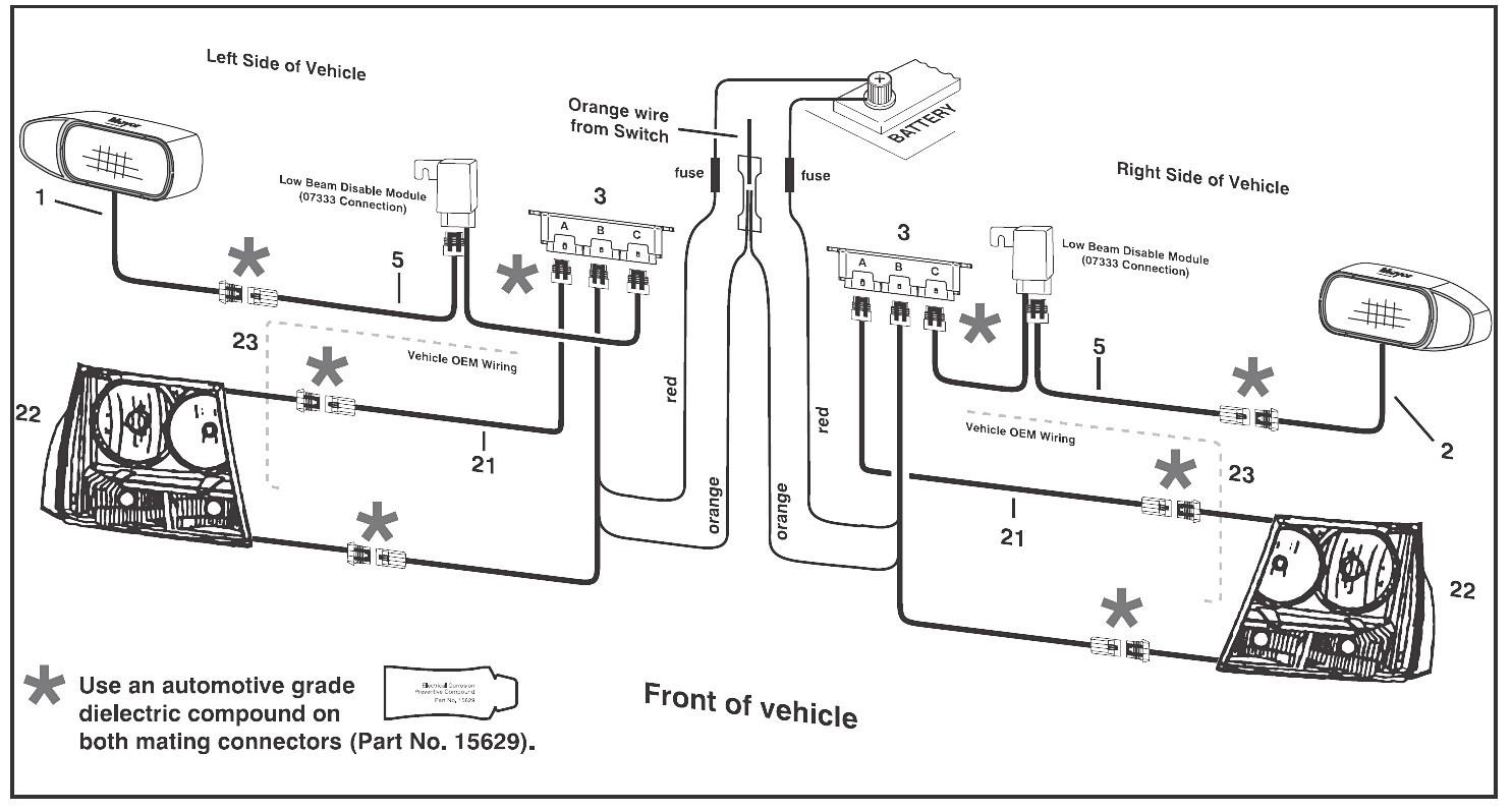 Chevy GMC Meyer Nite Saber Headlight Low Beam Disable Module Throughout Snow Plow Wiring Diagram