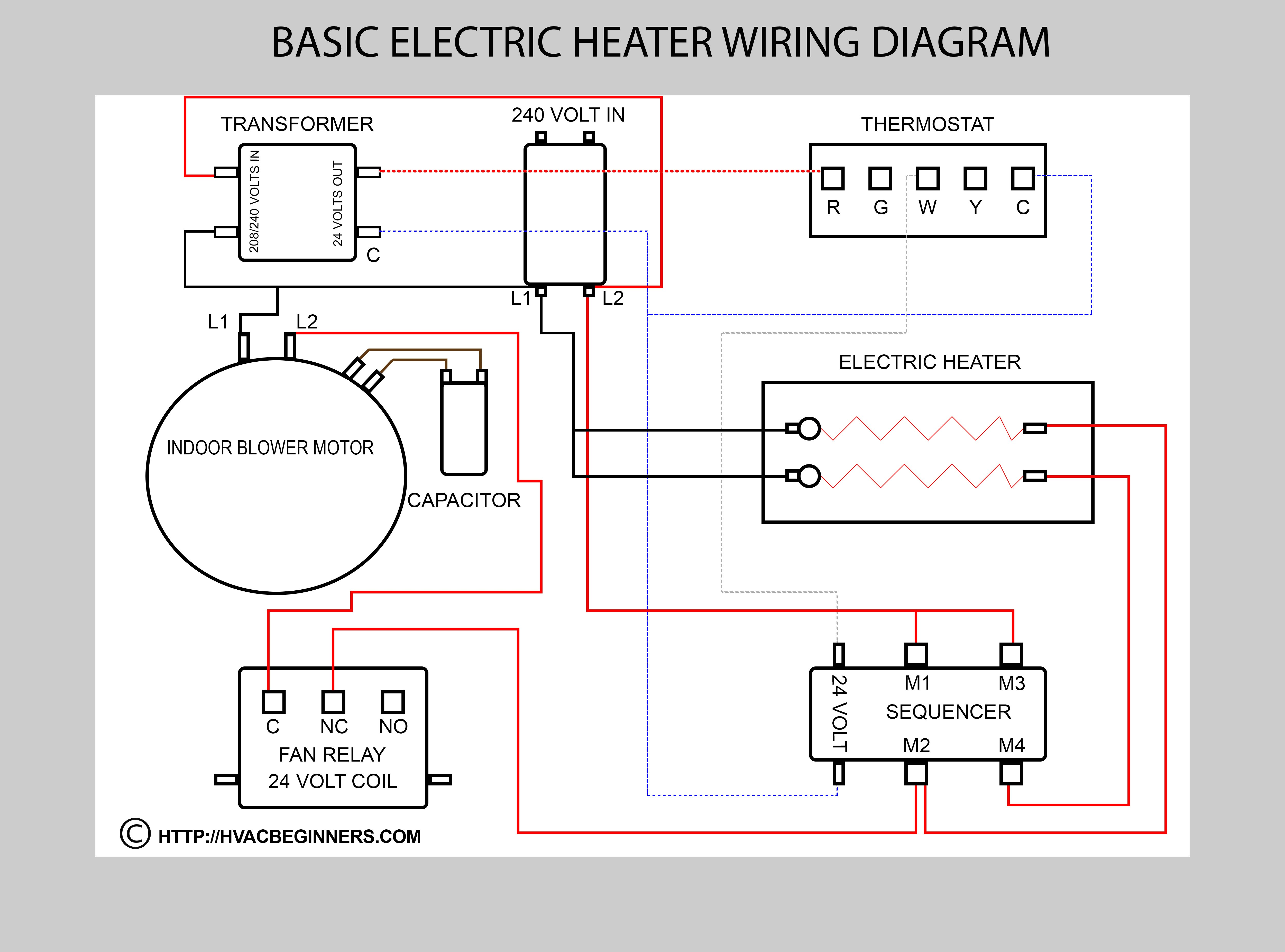 Wiring Diagram Electric Furnace Wire Muffle 5 Thermostat Cool Diagrams