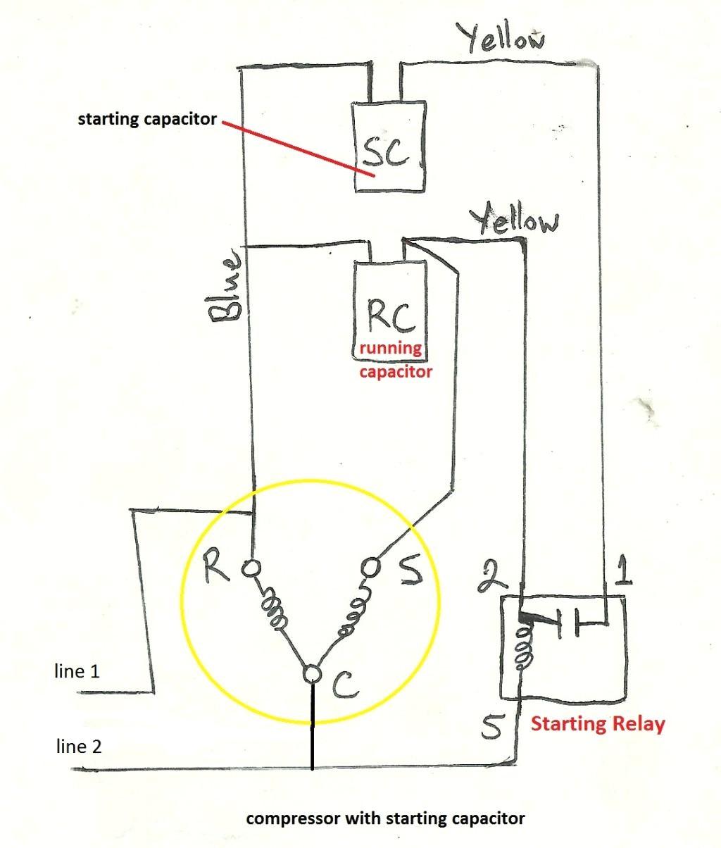 motor capacitor wiring diagram elegant