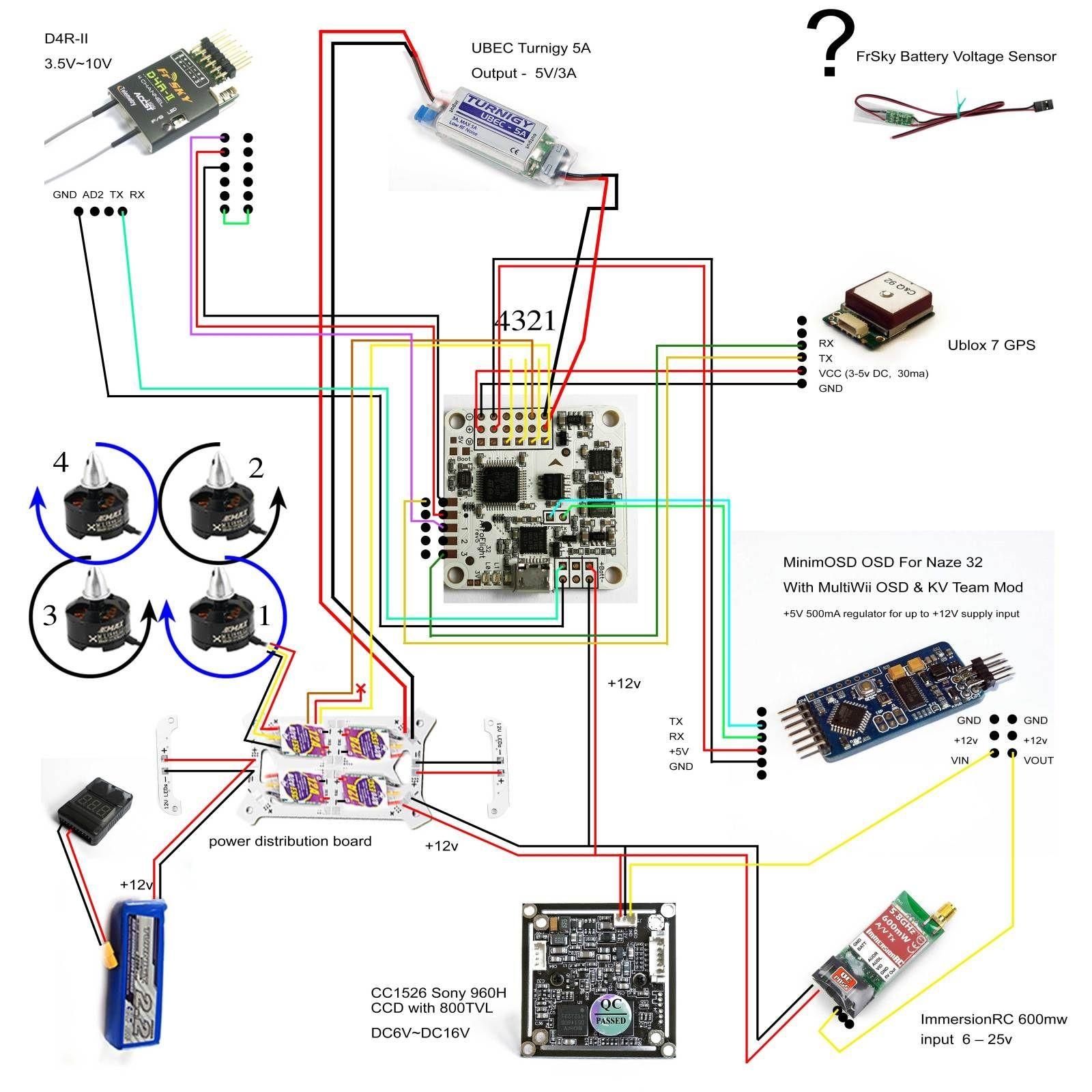 Naze32 Rev6 Wiring Diagram