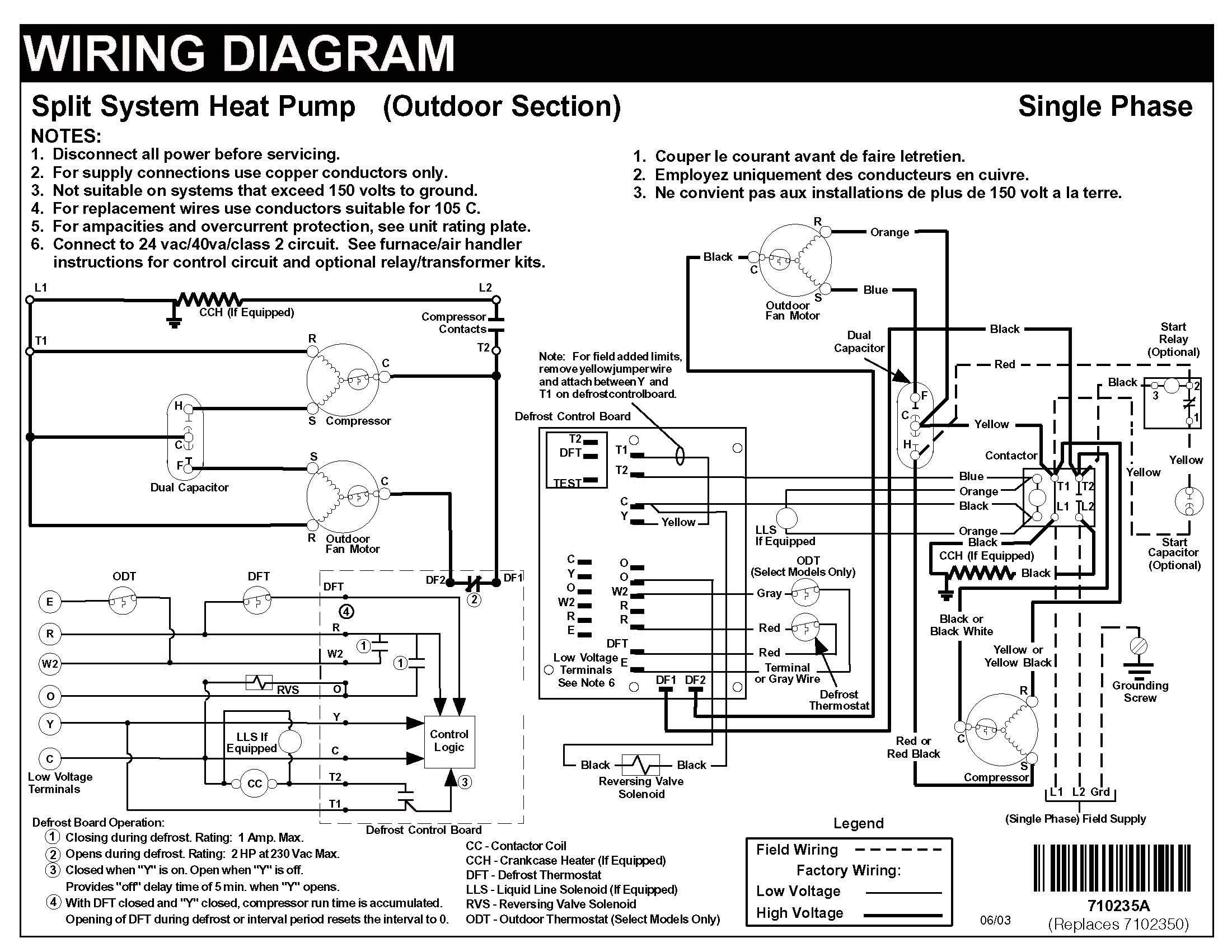 Heat Pump Wiring Diagram To Carrier Thermostat With Nordyne Split Entrancing A