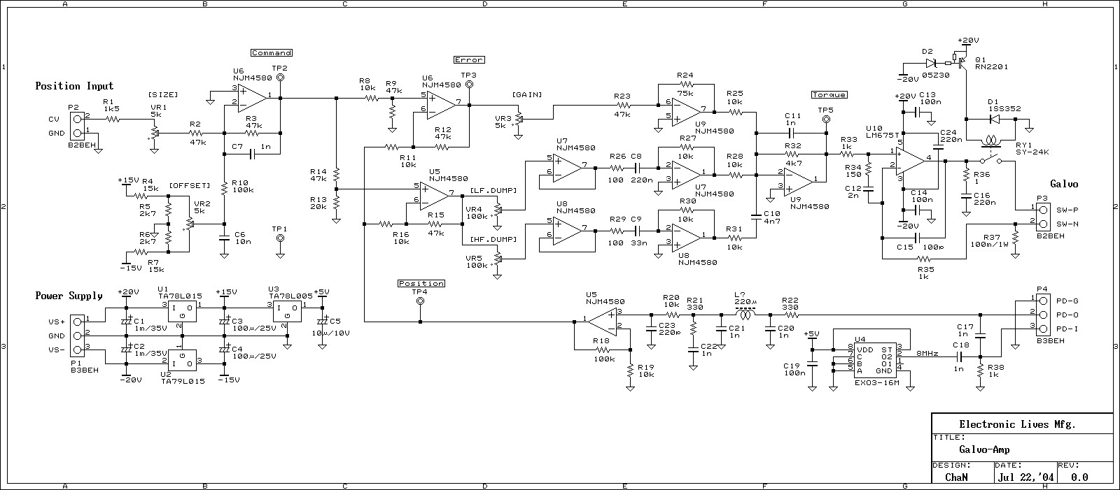 Op Amp Pid Controller Elegant Wiring Diagram Image This Is The Built Servo Amplifier And Circuit