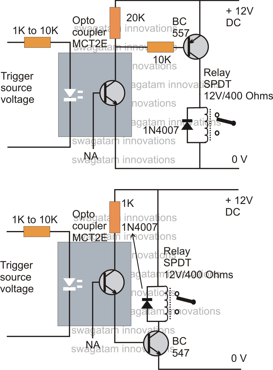 How Optocoupler Works Free Electronics Circuits T Transistor Relay Circuit Best Of Wiring Diagram Image Rh Mainetreasurechest Com D Latch Schematic