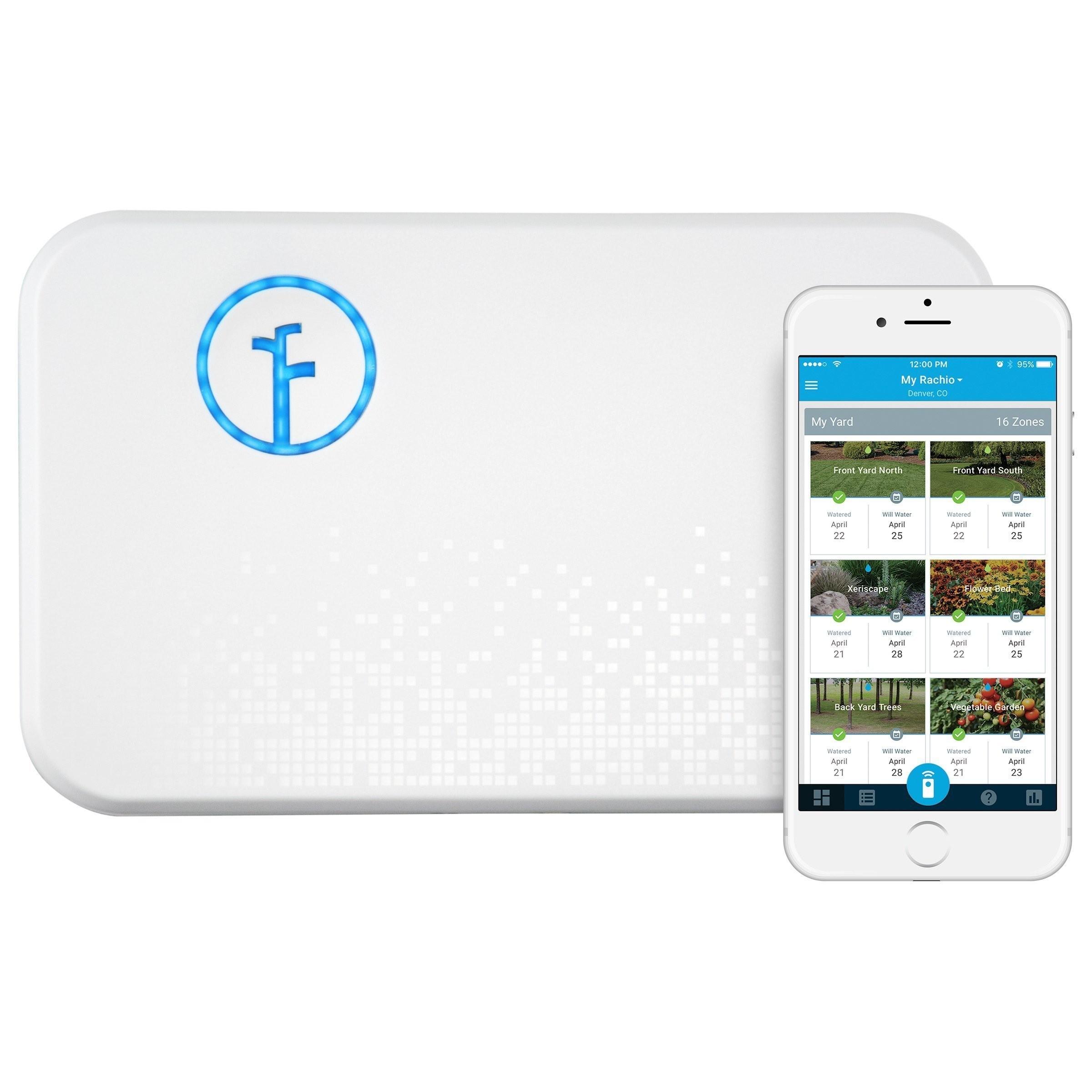 Rachio Smart Sprinkler Controller WiFi 8 Zone 2nd Generation Works with Amazon Alexa