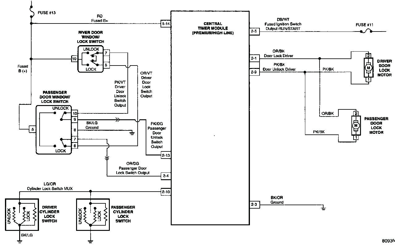 power door lock wiring diagram