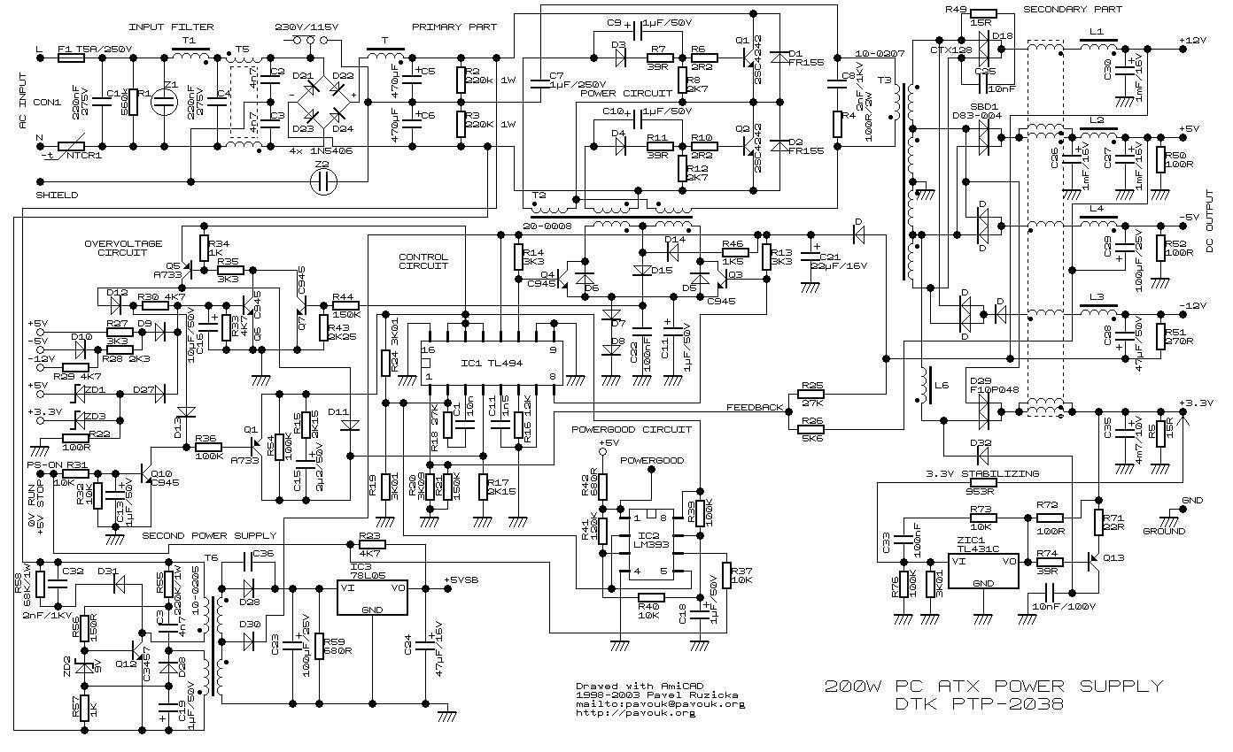 fine power supply wiring diagram ensign