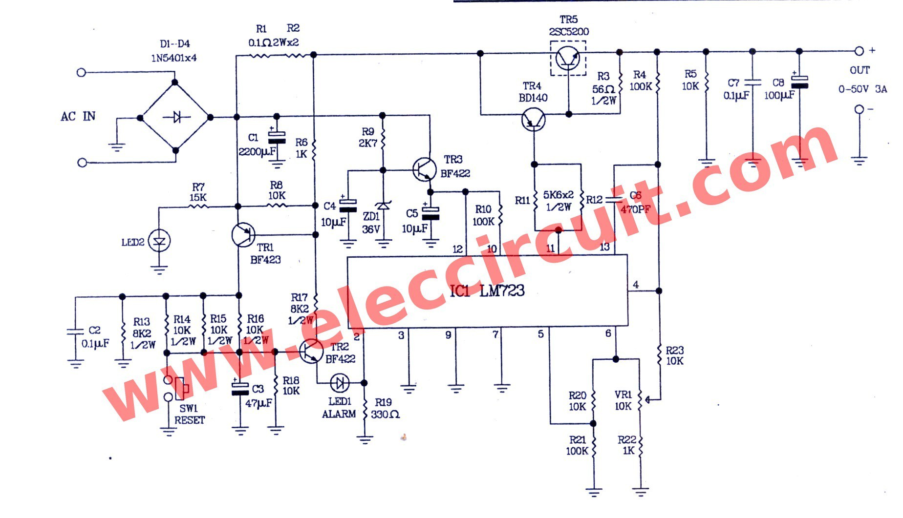 Amplifier Circuit Diagram New Ponent 0 50v Variable Power Supply Circuit at 3a 100 Kv High