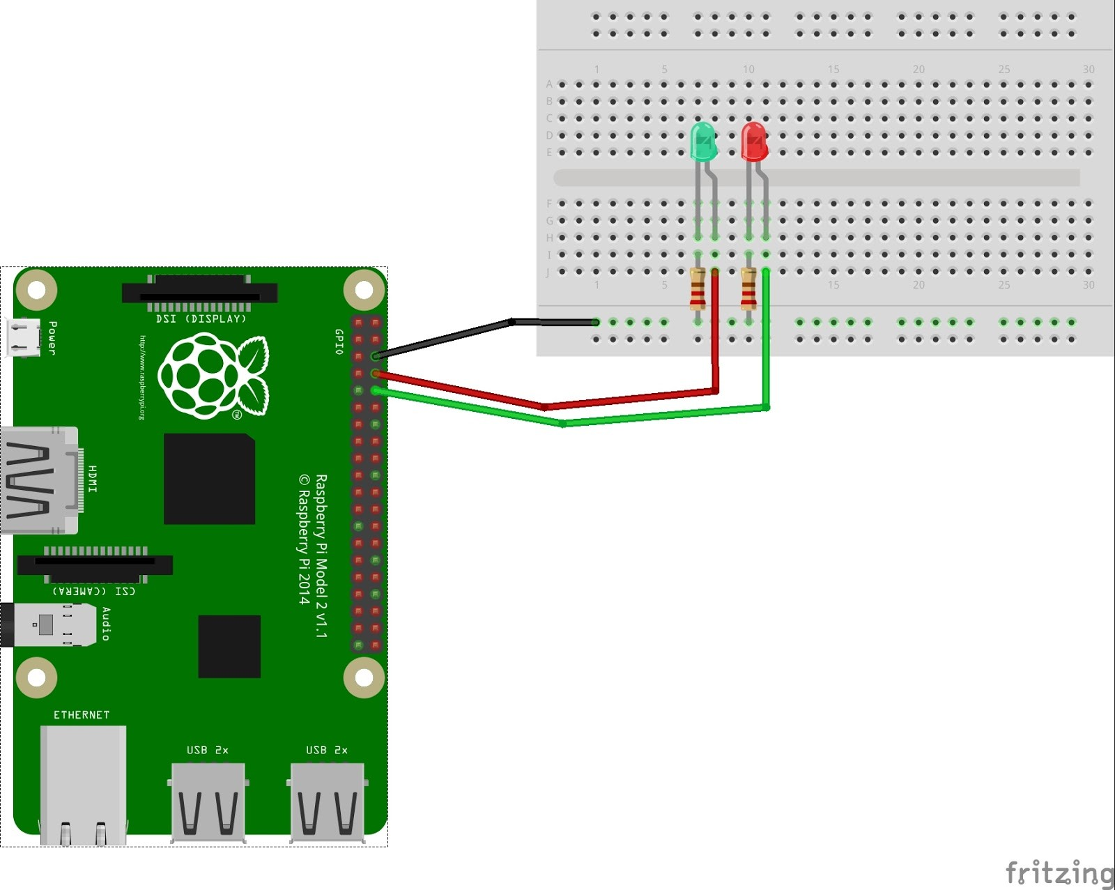Hook up the Raspberry Pi to a monitor via the HDMI port on the board