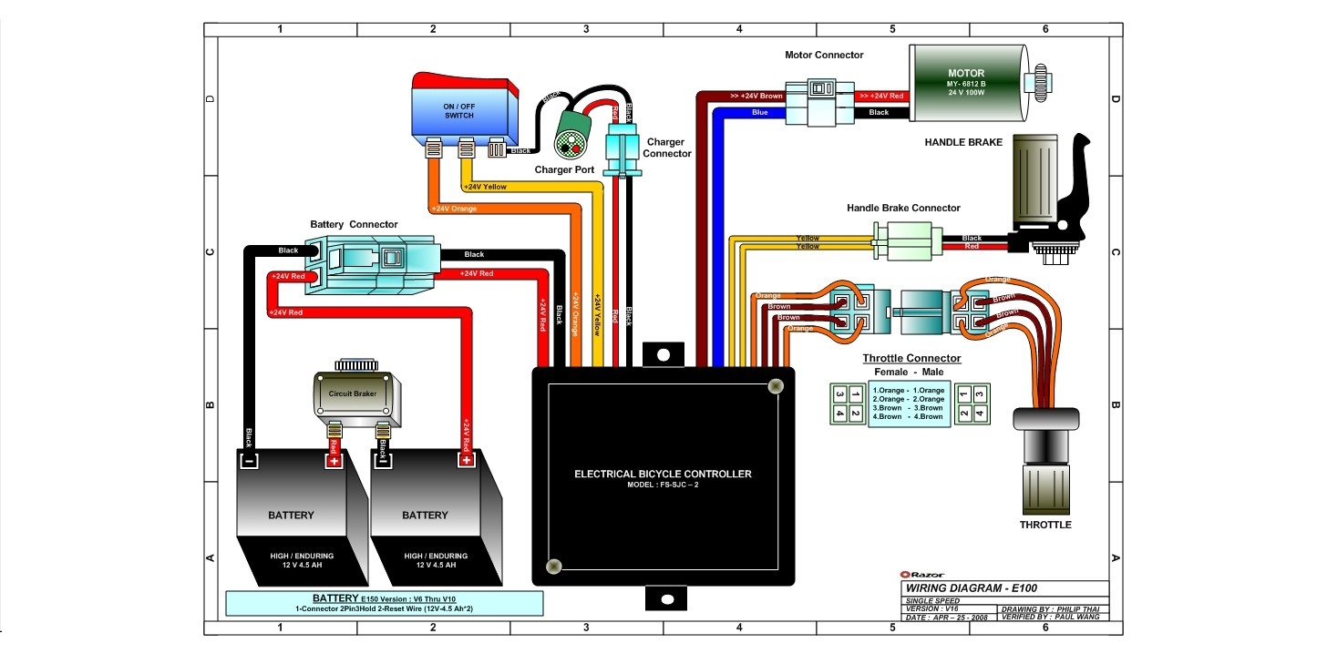 Razor Launch Wiring Diagram Version 16