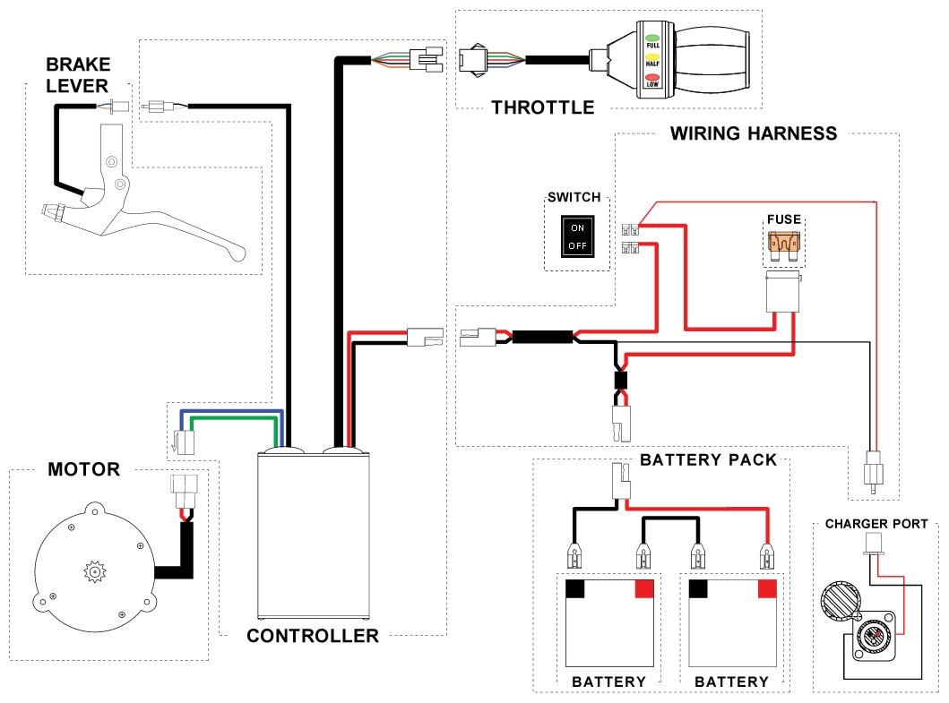 Razor E100 Parts Wiring Diagram Trusted Diagrams Ground Force Drifter Image