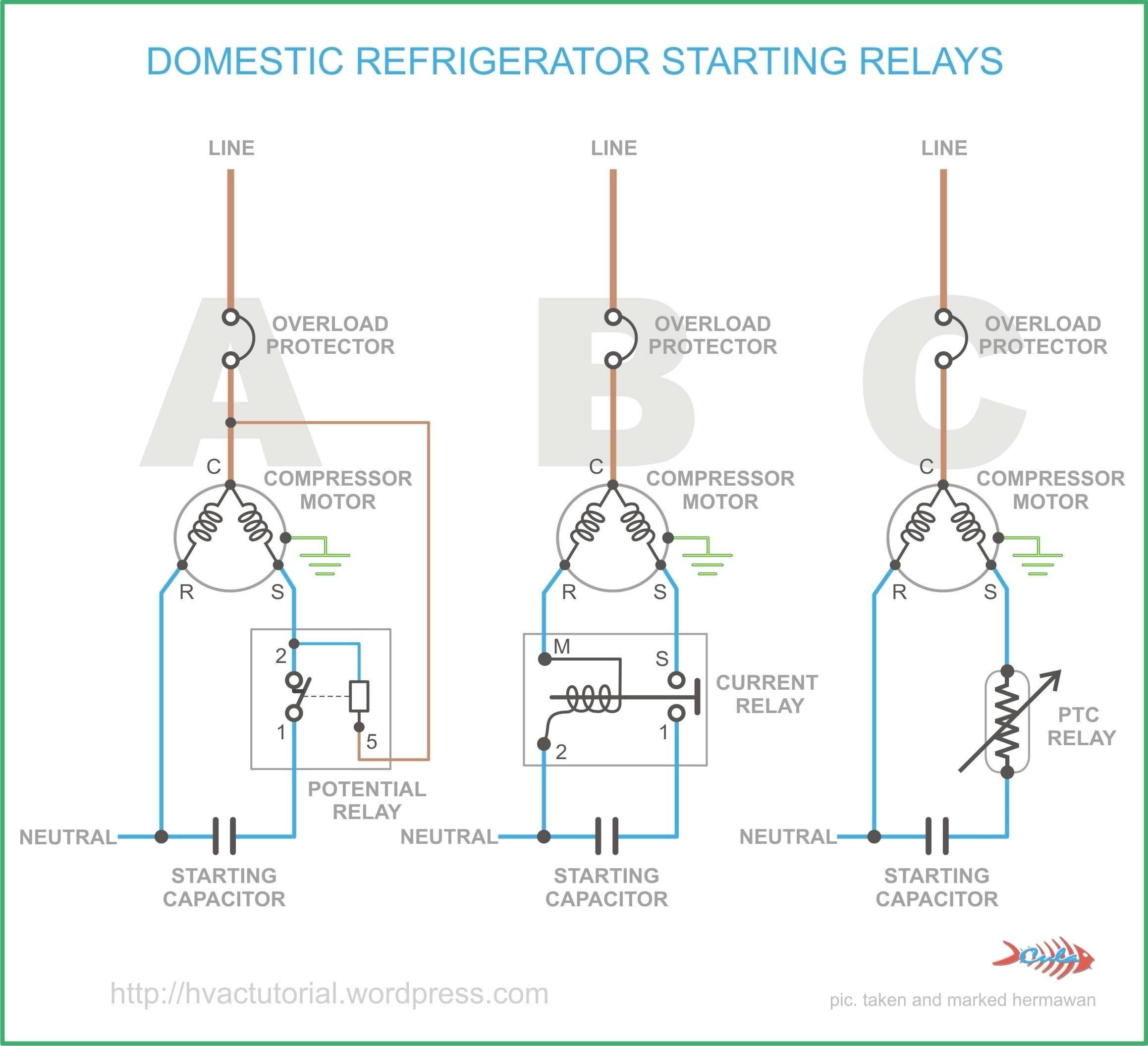 Refrigerator Start Relay Wiring Diagram Wiring Diagram