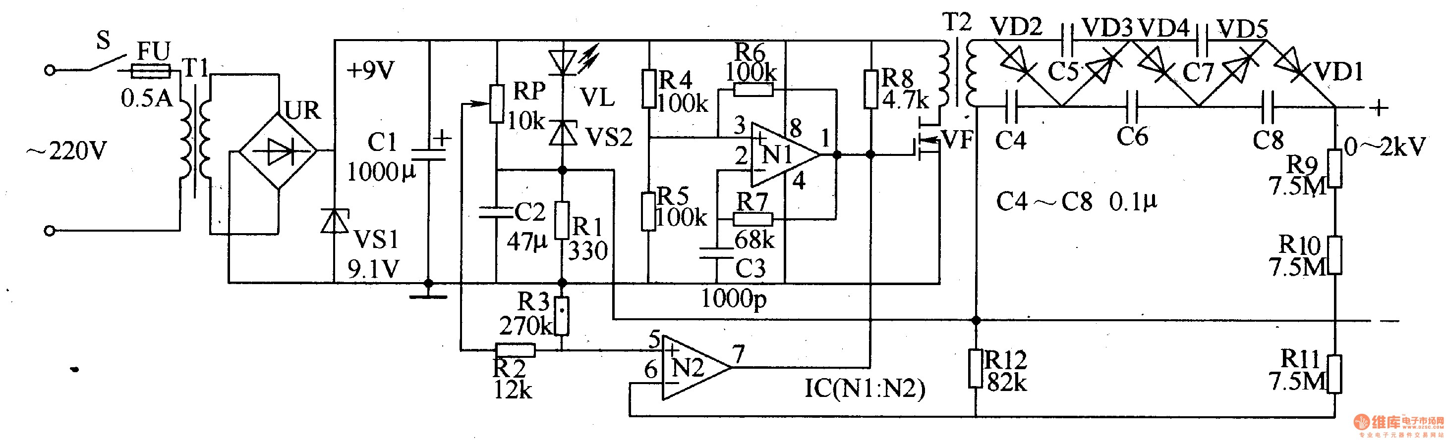 Regulated Power Supply Wiring Diagram For Computer Power Supply Pin