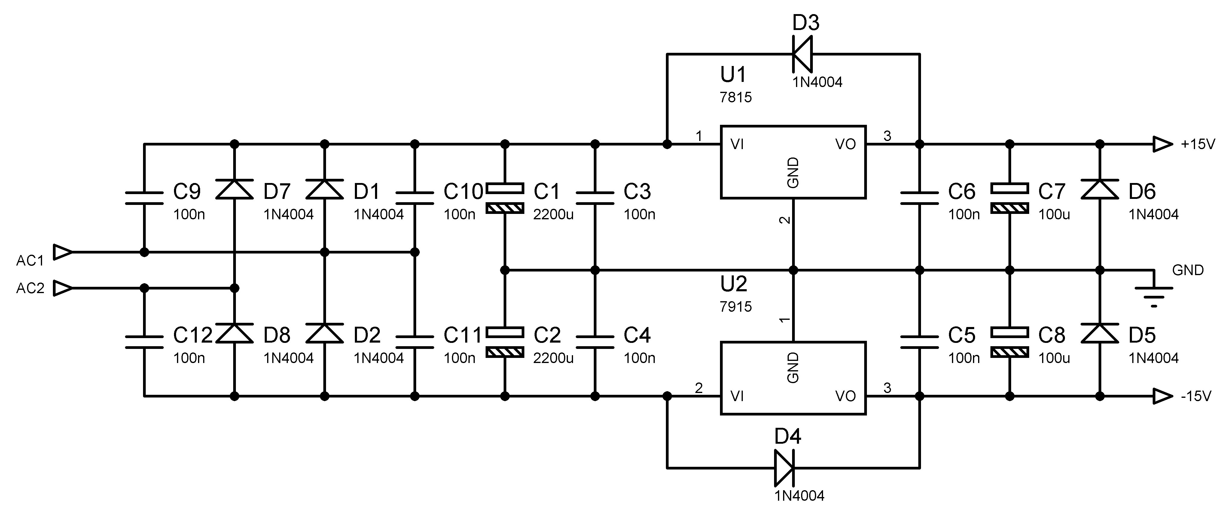 Summary Low Ripple Power Supply Circuit Diagram Electronic Circuits 25 To 25v Regulated