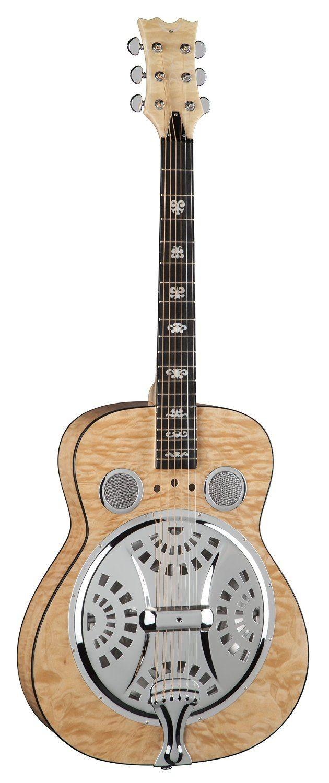 Dean Guitars RES QM TBK Quilt Maple Resonator Spider Guitar Amazon