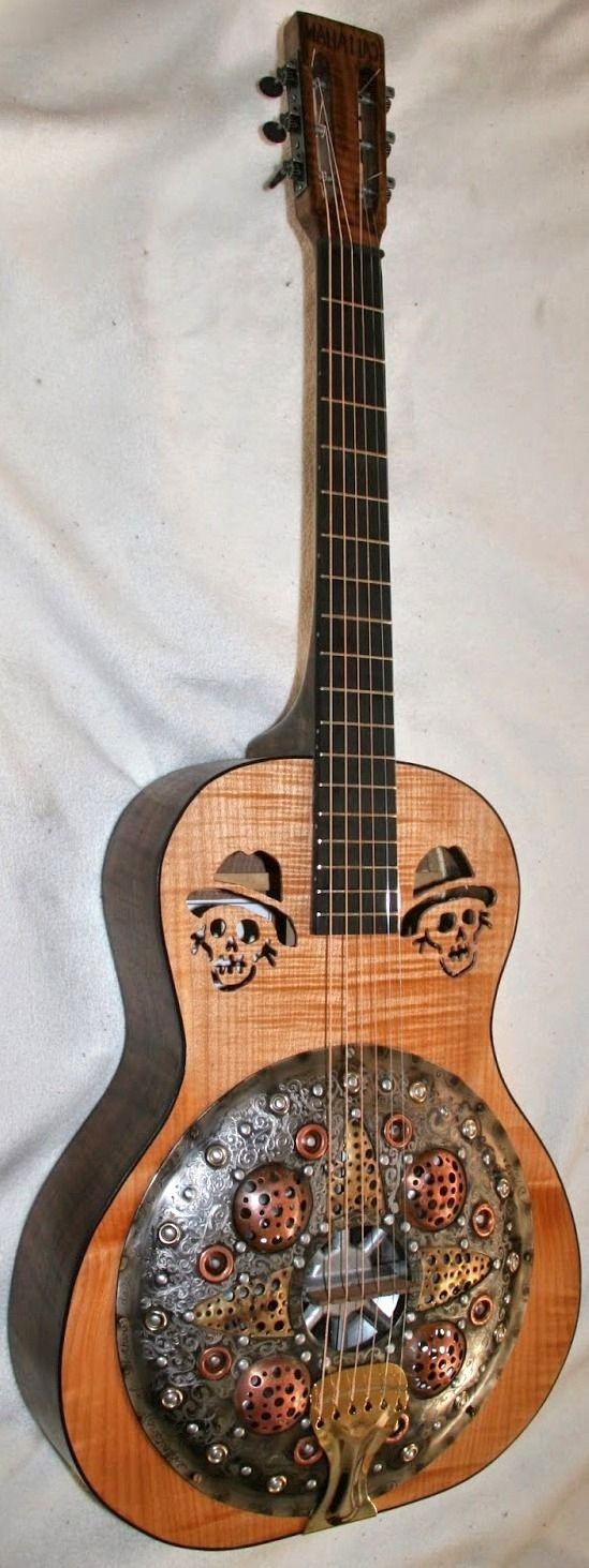 "frettedchordophones ""Mike Callahan Resonator Guitar "" Lardy s Chordophone of the day 2015"