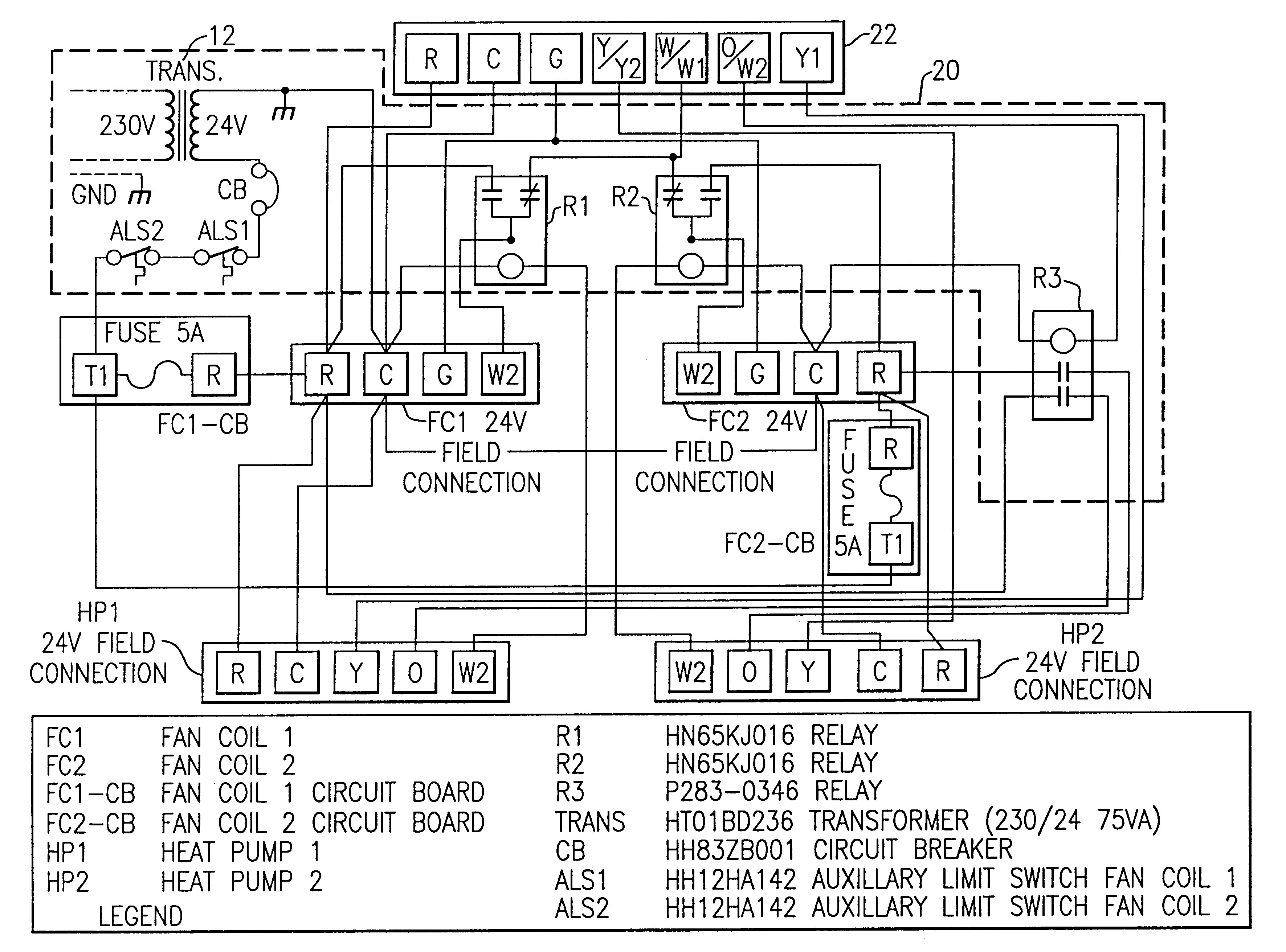 Patent US Twinning Interface Control Box Kit For Twinned Adorable Heat Pump Wiring Diagrams