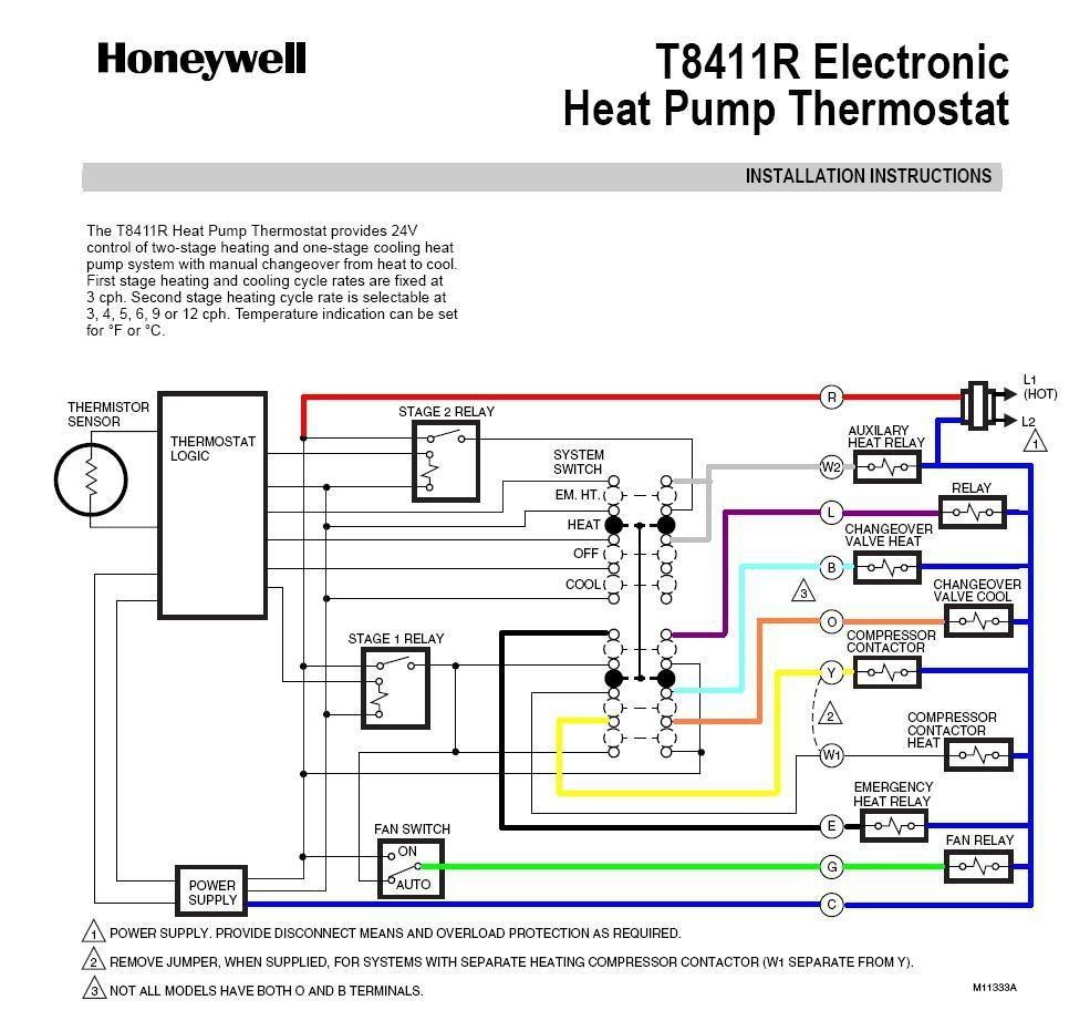 Honeywell Heat Pump Thermostat Wiring Diagram Fitfathers Me Remarkable A