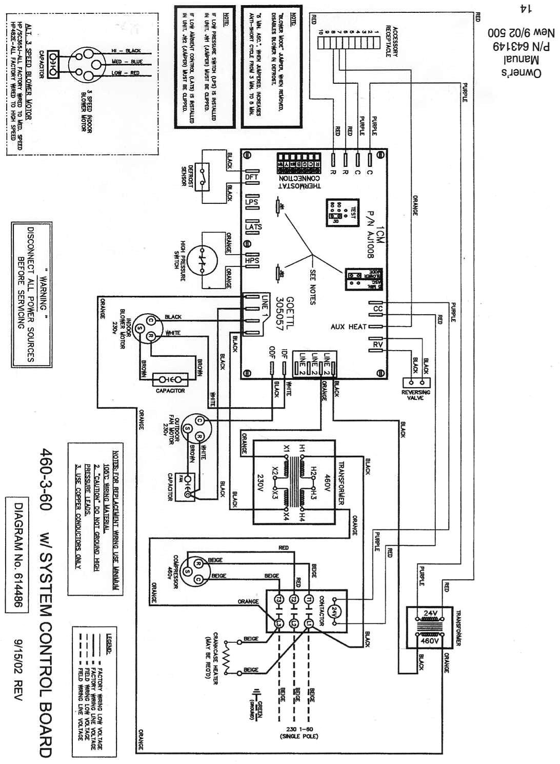 Wiring Diagram Trane Heat Pump Electrical Goodman Entrancing A