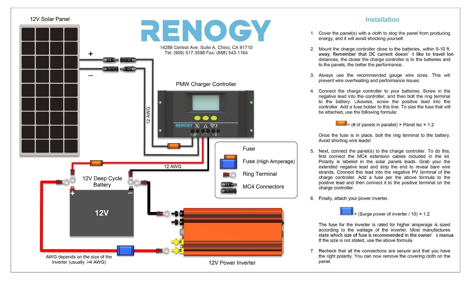 Renogy Setup Guide With Solar Panels Wiring Diagram Installation