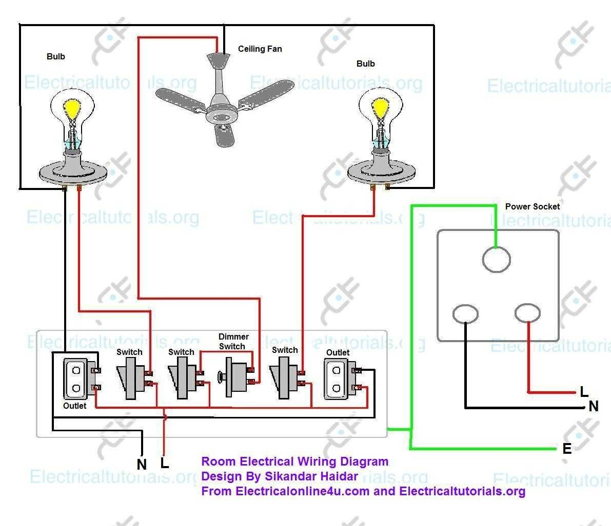 House Wiring Circuits Diagrams Schematics Typical Diagram For