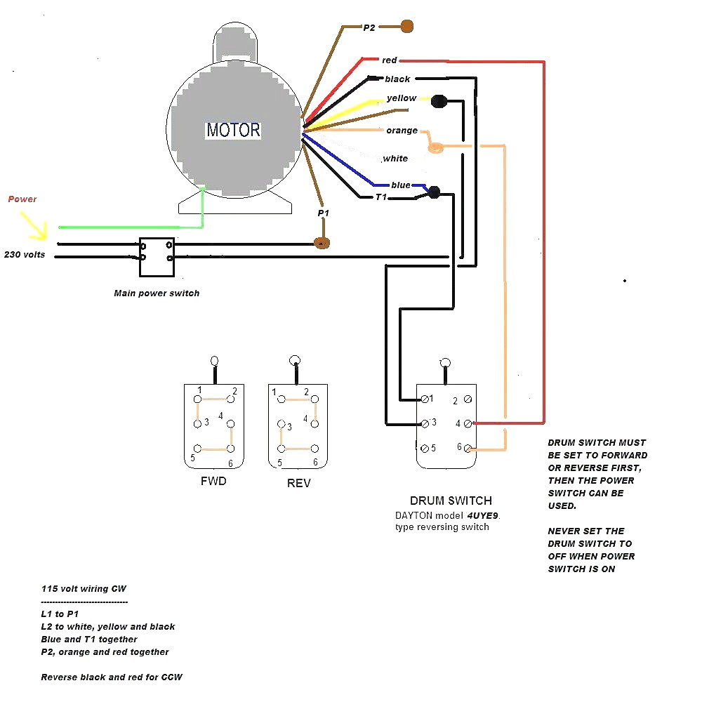 reliance electric motor wiring diagram