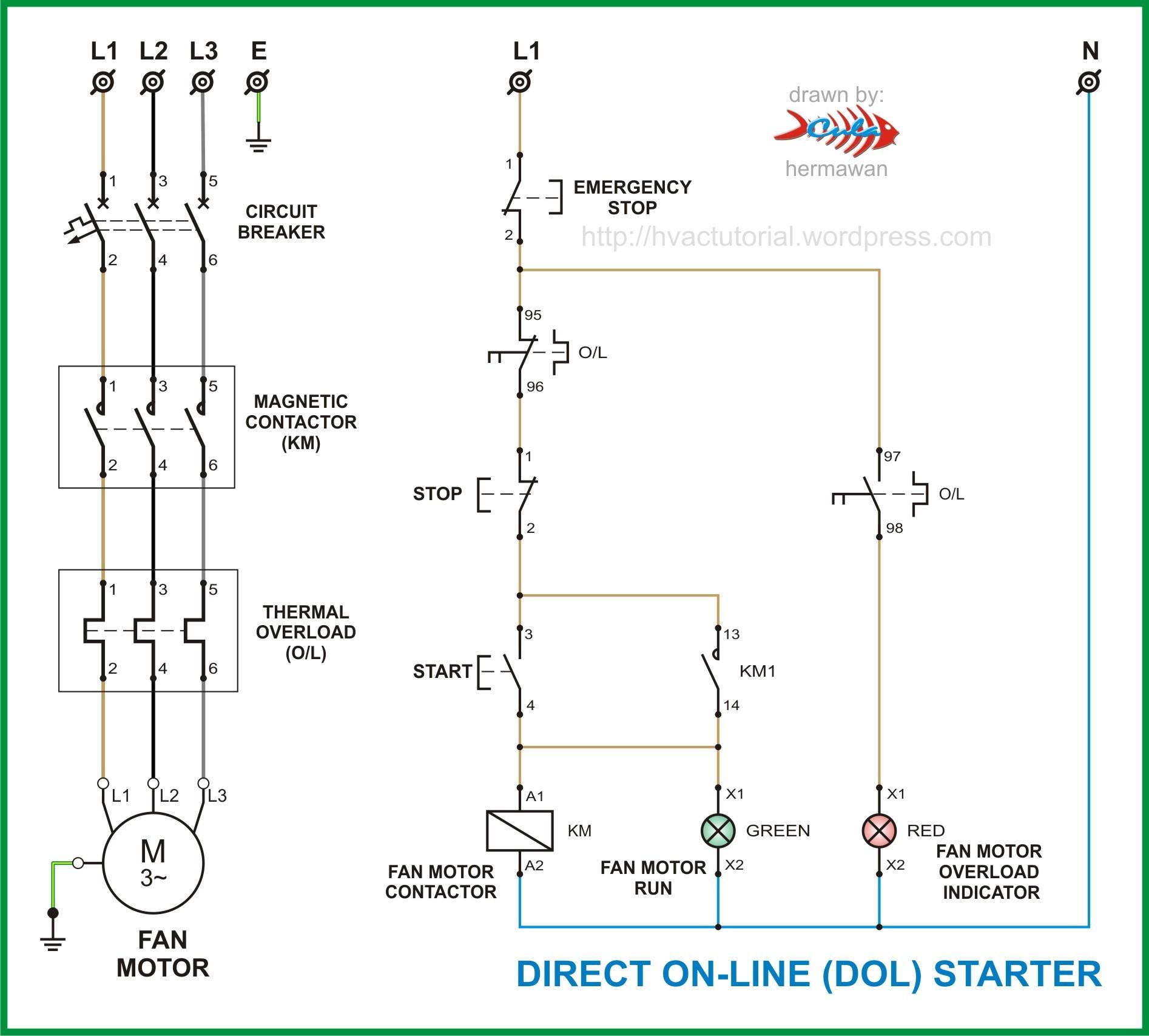 Motor Starter Diagram Single Phase